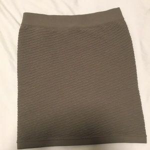 Green bodycon skirt 0S